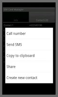 Screenshot of SIM Card Manager