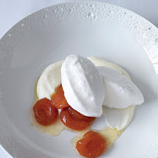 Floating Islands with Ricotta Cream and Poached Apricots