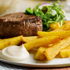 Steak & Fries With A Touch Of Garlic