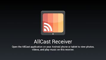 Screenshot of AllCast Receiver