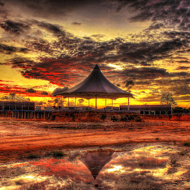 constructing Hatyai Floating Market by Germzki Hitch Cardenas - Landscapes Sunsets & Sunrises