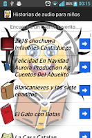 Screenshot of Historias de audio para niños