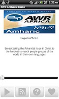 Screenshot of AWR Amharic Radio