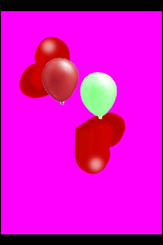 Valentine balloon popping