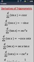 Screenshot of Integral derivative calculator
