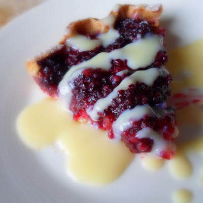 Fresh Blackberry Tart with Spiked Creme Anglaise