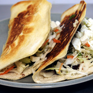 Crispy Black Bean Tacos with Feta and Cabbage Slaw
