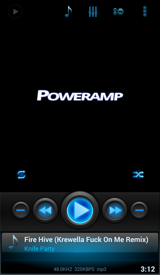 Mad Jelly Blue Poweramp Skin Screenshot 0