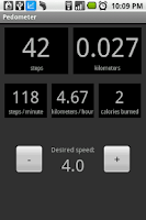 Screenshot of Pedometer