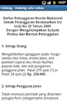 Screenshot of Undang - Undang Lalu lintas
