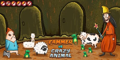 Screenshot of Farmer vs Crazy Animals