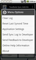 Screenshot of Toodledo.com Sync Add-on