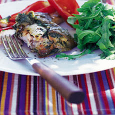 BBQ basil and Parmesan stuffed chicken
