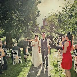 Congratulations by Alan Evans - Wedding Ceremony ( wedding photography, wedding day, wedding, bendigo wedding photographer, aj photography, bride and groom, congratulations, ceremony, wedding ceremony )