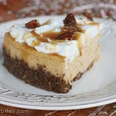 Pumpkin Cheesecake with Pecan-Gingersnap Crust