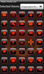How to get Dragonglow Red GoLauncherTheme 1.1 apk for laptop