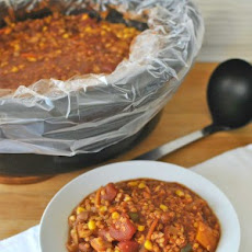 Spicy Slow Cooker Red Lentil Chili