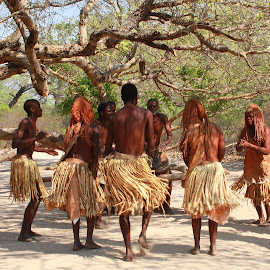 Kavango Dancers by Johanna Koekemoer - People Musicians & Entertainers