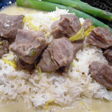 Stewed Veal in a Cream and Lemon Sauce