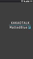 Screenshot of 카카오톡 테마 MattedBlue