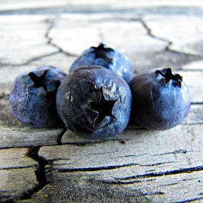 Berry Blue by Sue Neitzel - Food & Drink Fruits & Vegetables ( blue, stars, fruits, rustic, berries, Food & Beverage, meal, Eat & Drink,  )