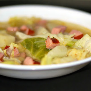 Smoked Sausage, Cabbage & Potato Soup