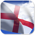 3D England Flag + icon