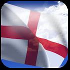 3D England Flag + icon