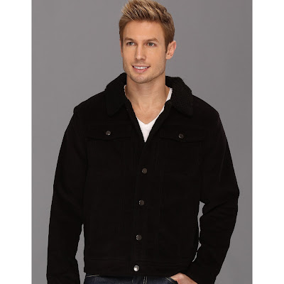 U.S. Polo Assn - Corduroy Jean Jacket with Sherpa Lining (Black) - Apparel