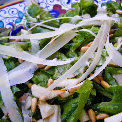 Pear & Pine Nut Salad with Honey Vinaigrette