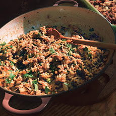 Wild Rice Stuffing with Pine Nuts
