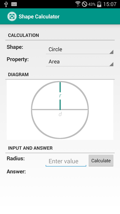 Shape Calculator Screenshot 0