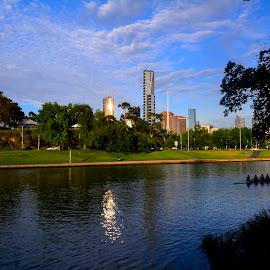 Yarra River by Donald Cain - City,  Street & Park  Skylines