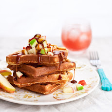 Salted Caramel Apple Waffles