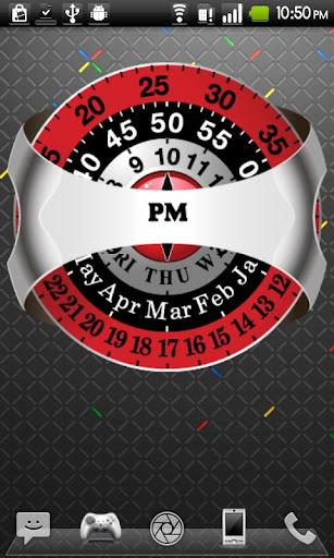 Rotating Analog Clock HD Full