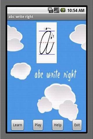 ABC Write Right - Skill Game