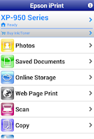 Screenshot of Epson iPrint