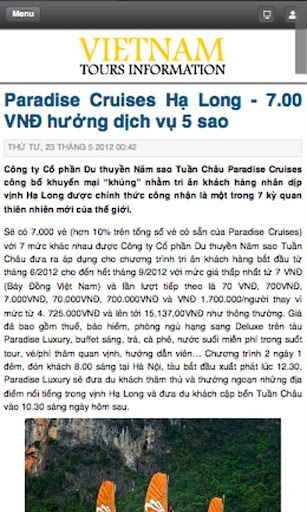 Vietnam Tours Information