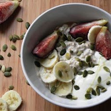 Creamy Coconut Bircher Muesli with Figs and Honey