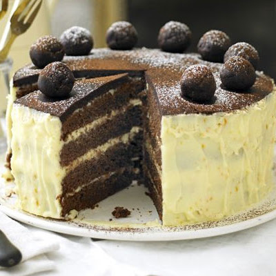 Chocolate, Orange & Almond Simnel Cake