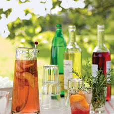 Peach and Rosemary Spritzers