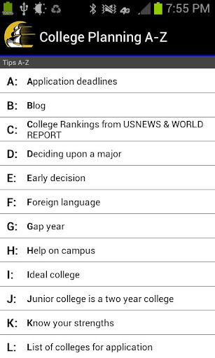 College Planning A-Z