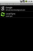 Screenshot of AutoSync Account Activator