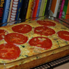 My Garden Vegetable Crustless Quiche