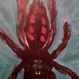 Pinktoe Tarantula by Anne Johnson - Painting All Painting ( tarantula, acrylics, art, pinktoe, painting,  )