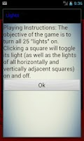 Screenshot of Lights puzzle