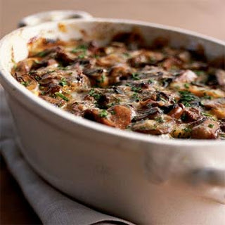 Wild Mushroom-and-Sweet Potato Gratin