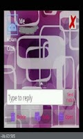 Screenshot of GO SMS THEME/purplepassion