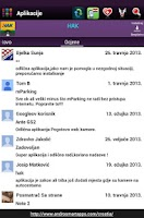 Screenshot of Android Hrvatska