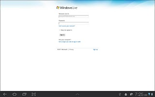 Screenshot of Browser for OneDrive(SkyDrive)